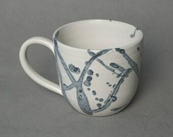 Splatter mug- Handmade stoneware ceramics