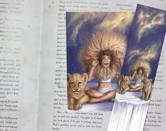 Zodiac Sign Leo Bookmark&Postcard