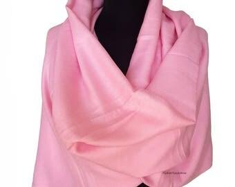 Baby Pink Pashmina Scarf Pink Shawl Pink Wrap Pink Scarf Bridesmaid Gift Pink Wedding Shawl Bridesmaid Pink
