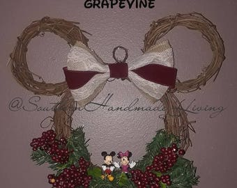 Mickey Mouse Grapevine Wreath