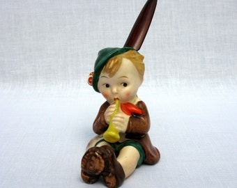 Hummel Goebel / Hummel Full Bee / Boy With Horn / Trademark 2 / TMK-2 / KF N / Foreign / Marked / Rare / With A Letter Opener / Early 50,s