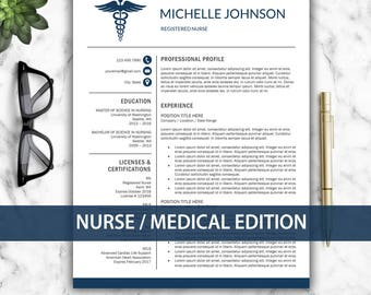 Staff Auditor Resume Excel Nursing Resume  Etsy Resume Samples Excel with High School Diploma On Resume Excel Nurse Resume Template For Word  Doctor Resume Template  Medical Resume  Nurse  Cv Template Do You Need A Cover Letter For Your Resume Excel