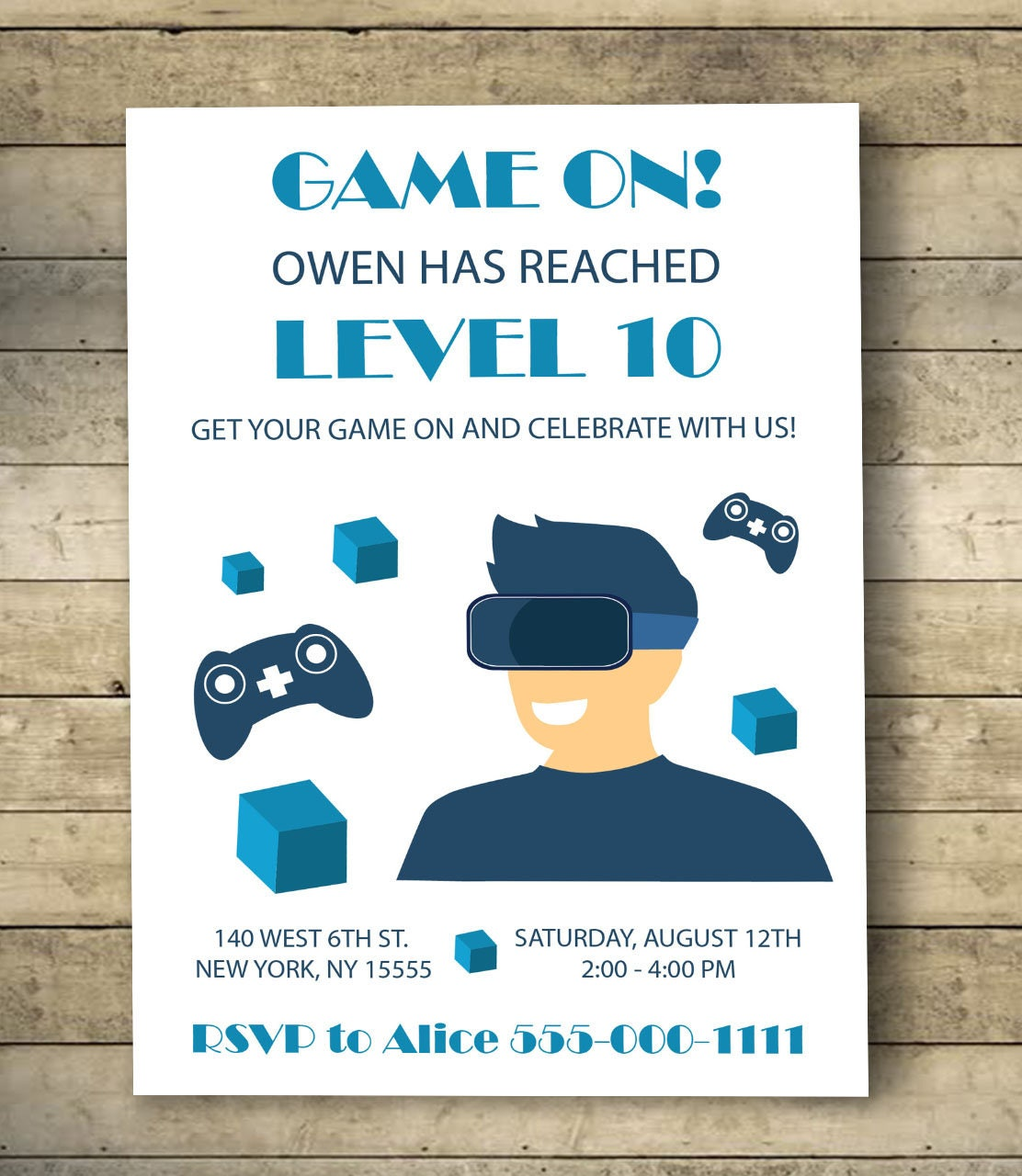 Video Game Birthday Invitation Video Game Birthday Party - Birthday invitation video
