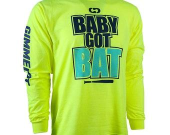 Baby Got Bat Softball Long Sleeve Shirt, Fastpitch Softball Shirt, Softball Gift