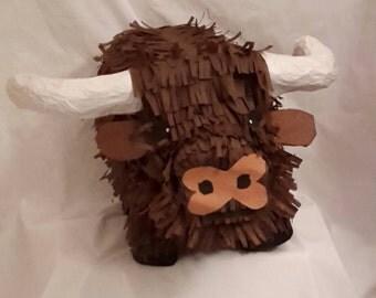 Longhorn bull PIÑATA. Handmade. New