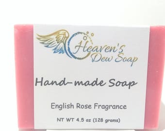Handmade English Rose Soap, Cold Process, Bridal Shower, Wedding Favor, Baby Shower, Gift Soap, Wholesale Available, Mini Soaps
