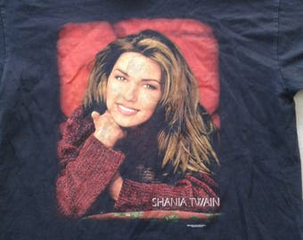 Vintage 90's 1998 Shania Twain Canadian Country Music t-shirt Made in USA XL