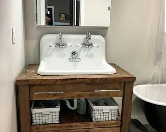 Barn wood vanity etsy for 24 reclaimed wood vanity