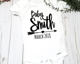 Pregnancy Announcement Onesie® Personalized - Custom Made