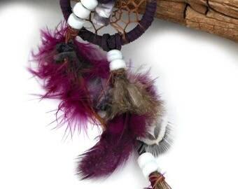 Small Dreamcatcher / Mini Dream Catcher / Purple Handmade Dream Catcher / Gift for Car / Gift of Him / Webbed Dream Catcher / Hanging