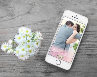 Custom Wedding Snapchat Filter | Custom Filter | Custom Snapchat Filter | Custom Wedding Snapchat Filter | Snapchat Filter | Watercolor