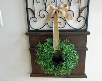 "13"" Boxwood Wreath-Mini Wreath-Small Wreath-Boxwood Wreath-Summer Wreath-Year Round Wreath-Farmhouse Wreath-Window Wreath-Rustic Wreath"