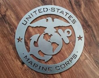 United States Marine Corps Metal Art
