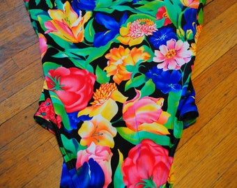 Land's End Floral 90s Bathing Suit