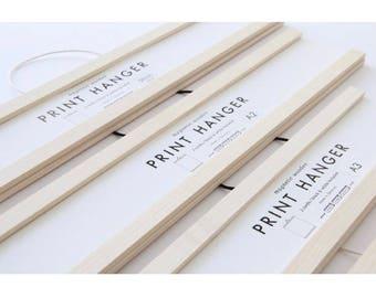 Print Hanger - Poster Hanger - Frame - A4 - A3 - A2 - 50 cm