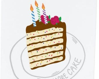Birthday card / eat more cake / funny / birthday cake
