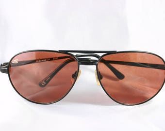 Vintage 1990's Serengeti Aviator 5497 Sunglasses with Case in Excellent Condition