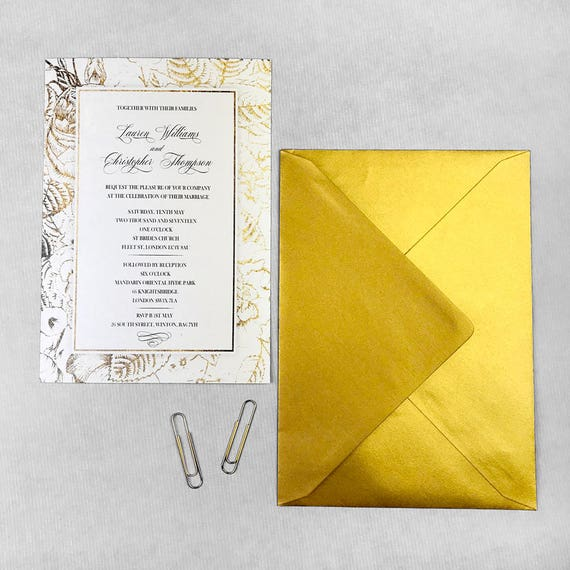 Floral wedding invite suite, Boho wedding invitation suite, Boho chic wedding invite, Gold wedding invitations, Vintage wedding invitation