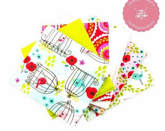 Chirpie Magee Fat Quarters - 100% Cotton - Fabric/Textile