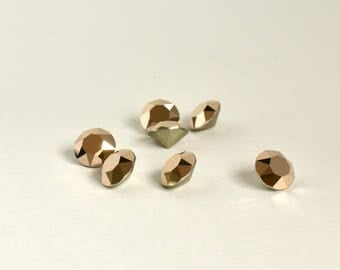 8mm Rose Gold Chaton, Swarovski Crystal Rhinestones, Xirius Round, SS39 Embellishment, Loose Rhinestones, Point Back, Diy, 1088, For Sewing