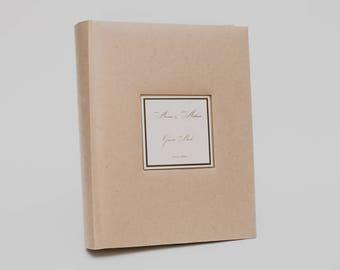 Kraft paper photo album, brown photo album, vintage photo album, wedding album, large photo album, unused photo album, custom photo album