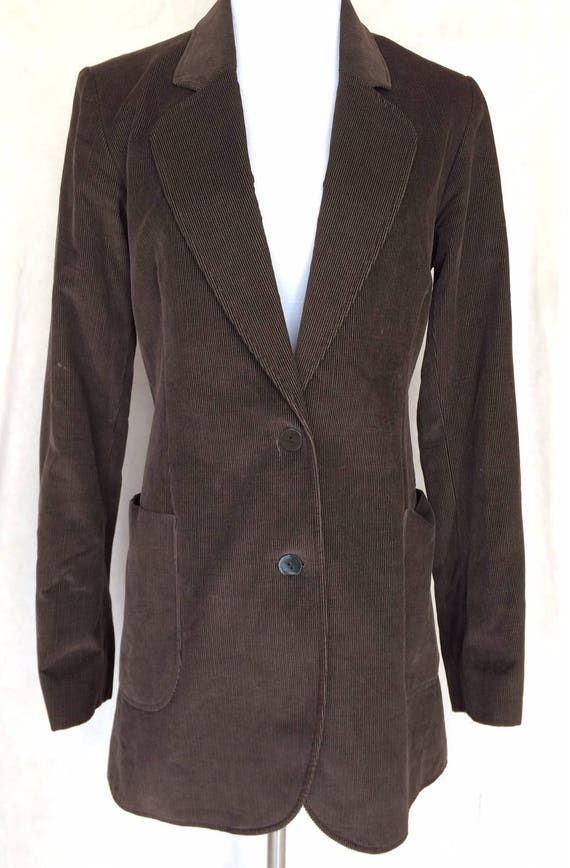 Deep Brown Joseph London Corduroy Jacket,Size Medium,Made in France