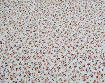White Birch Cove-Red Berries-Cotton Fabric from Red Rooster Fabrics