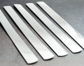 "1/2"" Wide Aluminum Bracelet Blanks - 5, 10 or 25 - 1100 14g Aluminum - Handstamping Blanks, Jewelry Supplies"