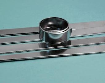 "Twenty - Five 1100 1/4"" x 3""  18g Aluminum Wraparound Ring Blanks"