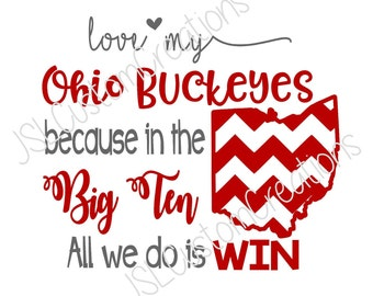 Ohio State SVG, eps, DXF, png Cut Files for Silhouette, Cricut, Vectors, Buckeyes, Football, College, Sports, Big Ten, State, Digital File