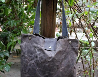 Waxed Canvas Bag - Cerato tote canvas brown - Waterproof bag - Hobo Bag - Gift For Him - Waxed Canvas Tote bag - Gift for Her - Shoulder Bag
