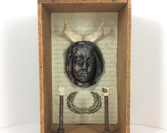 Trophy Wife, Assemblage Art, Mixed Media Art