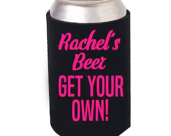 Personalized Beer Can Cozie, Personalized Beer Can Cooler, Personalized, Can Cozie, I Love Beer, Bottle Cooler, Beer Bottle holder