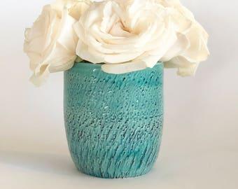 Small Green Vase