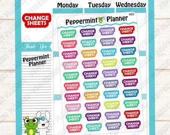 Change Sheets --- Word Art --- Planner Stickers --- 465