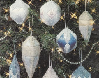 Elegant Ornaments in Plastic Canvas