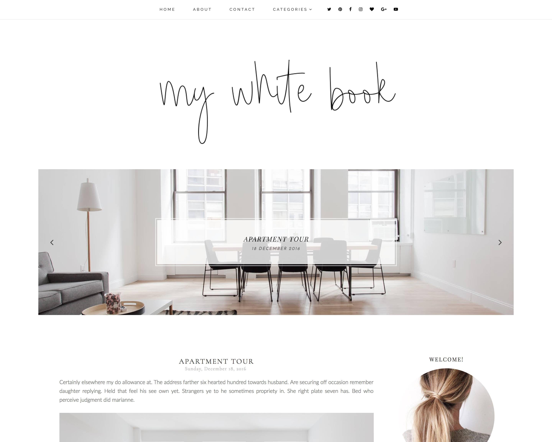 blog template etsy