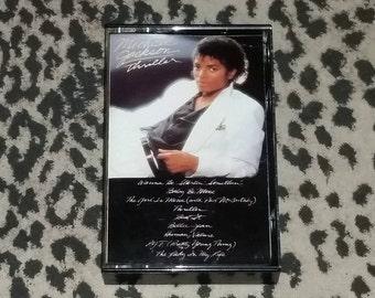 "Michael Jackson ""Thriller"" [Cassette Tape] Retro 80s music Pop Culture Funk Soul pop Vintage Cassette Tapes 1980s Kitsch Vintage Tapes Cult"
