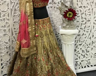 Silk & Net 3pc two layer Bridal Wear