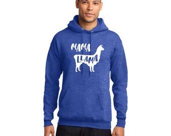 Mama Llama Pullover Hooded Sweatshirt Llama Llama Hoodie