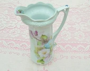 Morning Glory Pitcher in Fine China