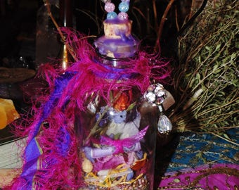 Spell Bottle, Love Spell Bottle, Friendship Spell Bottle, Herbl Magick, Ritual Spell Bottle, Witches Spell Bottle, Herbs, Witchcraft, Spells