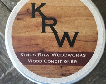 Kings Row Woodworks All Natural Wood Conditioner and Wax