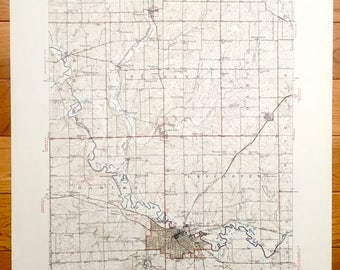 Antique Freeport Illinois 1944 Us Geological Survey Topographic Map Orangeville Dakota Cedarville