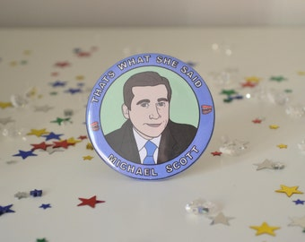 Michael Scott - 58mm - Badge