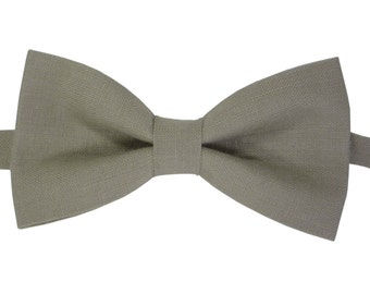 Sage Green Bow Tie for Groomsmen bow tie linen green bow tie for Wedding Mens green bow tie green bow tie Green wedding bowtie.