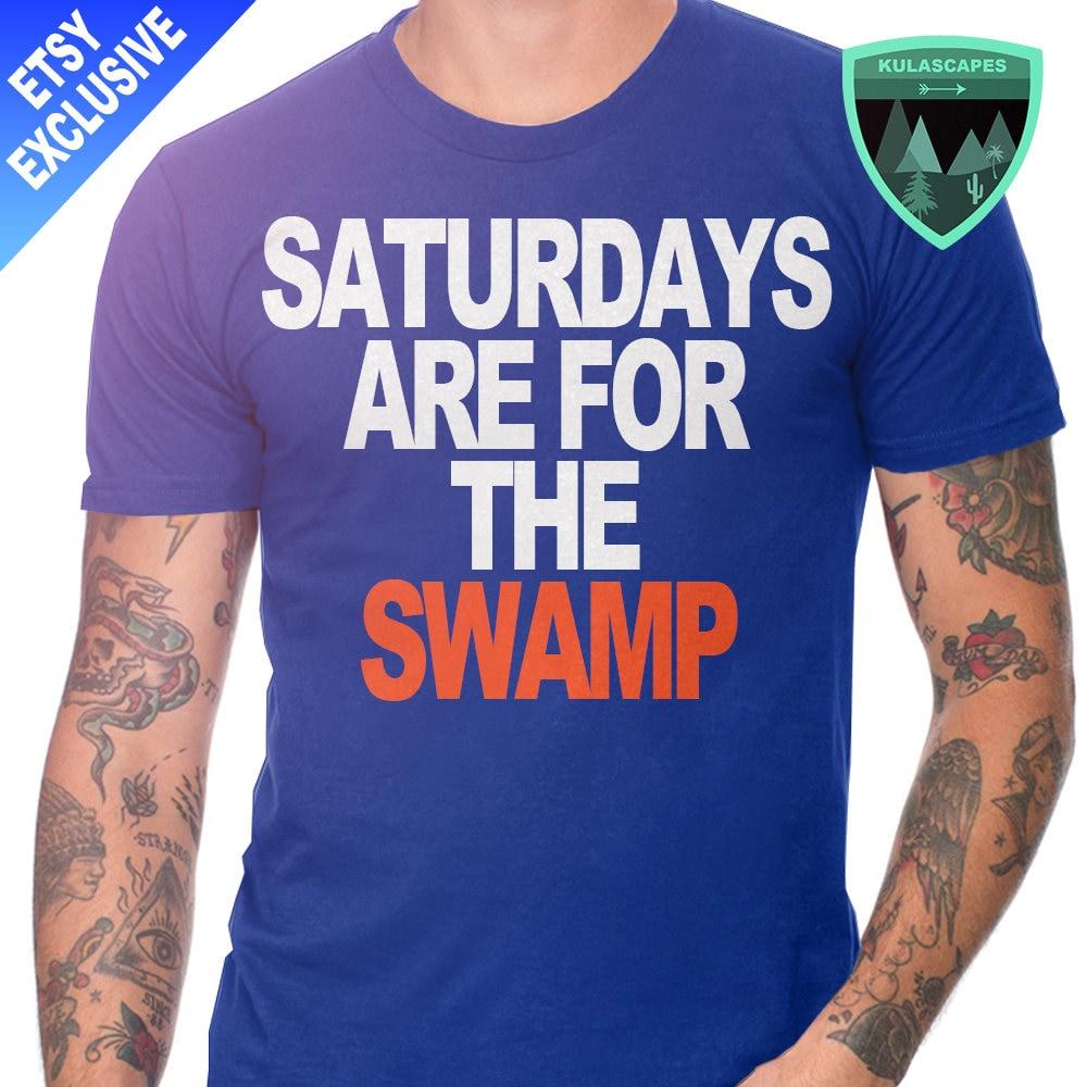 Official florida gators shirt saturdays are for the swamp for Florida gators the swamp shirt