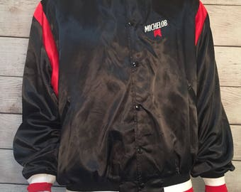 Vintage Michelob beer Bomber style Nylon jacket