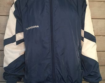 Vintage Diadora futbol soccer Track Jacket