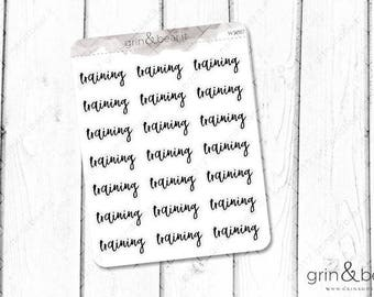 Training Word Stickers (WS007)